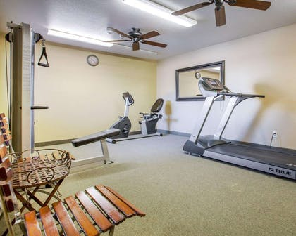 Exercise room with cardio equipment | Comfort Inn Marina