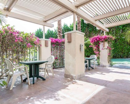 Relax on the hotel patio | Comfort Suites Palm Desert I-10