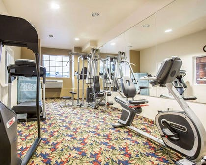 Exercise room with cardio equipment and weights   Comfort Inn & Suites of Salinas