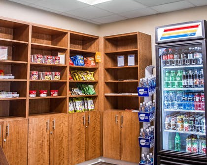 Enjoy snacks and beverages from the hotel marketplace | Comfort Suites Woodland - Sacramento Airport