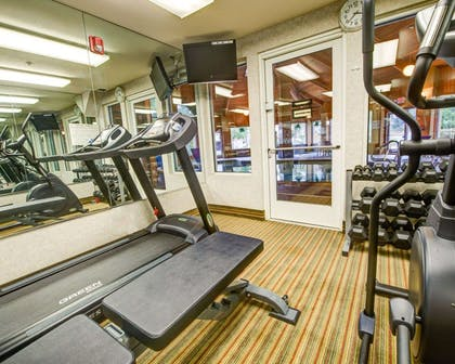 Fitness center with cardio equipment and weights   Comfort Inn Fontana