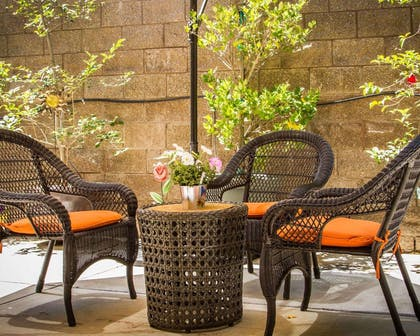 Relaxing patio area | Hotel Med Park, an Ascend Hotel Collection Member