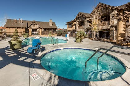 Outdoor heated pool and hot tub | Bluegreen Vacations Big Bear Village, Ascend Resort Collection