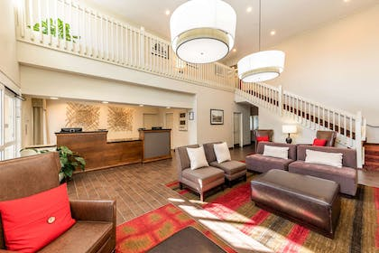 Spacious lobby with sitting area | Quality Inn & Suites University Fort Collins