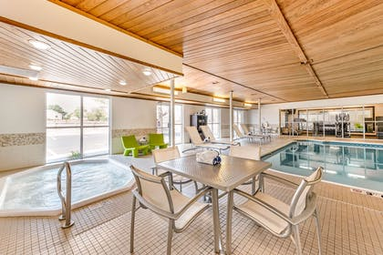 Indoor pool with hot tub | Quality Inn & Suites University Fort Collins