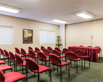 Meeting room with theater-style setup | Quality Inn And Suites