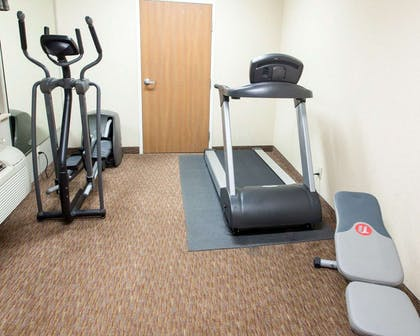 Fitness center with cardio equipment and weights | Comfort Inn Fort Morgan