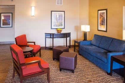 Spacious lobby with sitting area | Comfort Inn Fort Morgan