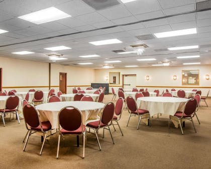 Large space for receptions, parties, anniversaries and business meetings   Clarion Inn