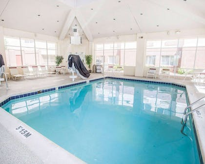 Indoor heated pool with hot tub | Quality Inn & Suites Denver International Airport