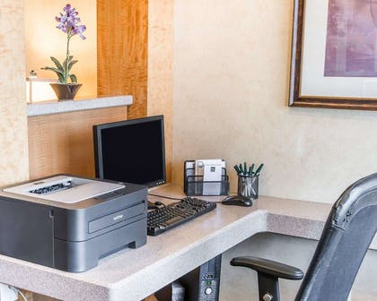 Business center with free wireless Internet access | Quality Inn & Suites Denver International Airport