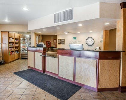 Front desk with friendly staff | Quality Inn & Suites Denver International Airport