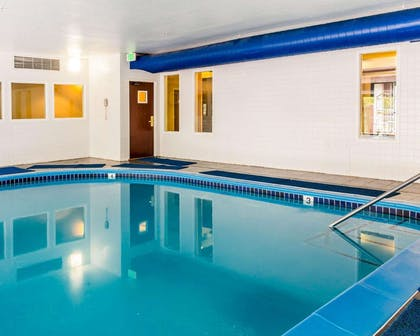 Indoor pool with hot tub | Quality Inn & Suites Denver North - Westminster