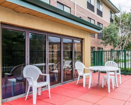 Relax on the hotel patio | Quality Inn & Suites Denver North - Westminster