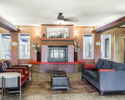 Lobby with fireplace | Quality Inn & Suites Denver North - Westminster
