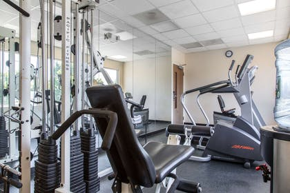 Exercise room with cardio equipment | Quality Inn and Suites Danbury