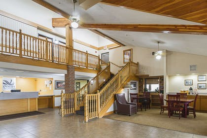 Spacious lobby with sitting area | Quality Inn and Suites