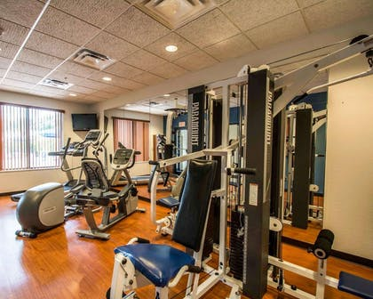 Fitness center with television | Comfort Suites Miami - Kendall