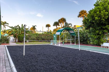 Volleyball court | Quality Inn & Suites Port Canaveral Area