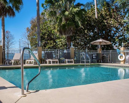Outdoor pool with sundeck | Comfort Suites Clearwater - Dunedin