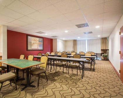 Meeting room with classroom-style setup | Comfort Suites Fort Pierce I-95
