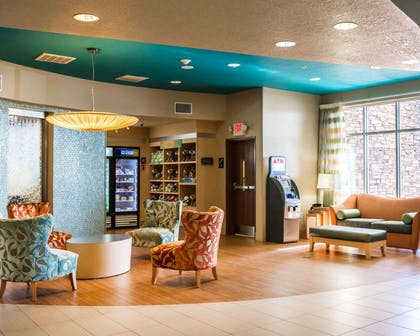 Spacious lobby with sitting area   Comfort Suites At Fairgrounds-Casino