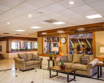 Spacious lobby with sitting area | Quality Inn & Suites Pensacola Bayview