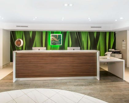 Front desk with friendly staff | Quality Inn & Suites By the Parks
