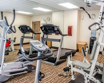 Fitness center with cardio equipment and weights | Comfort Inn & Suites Crestview