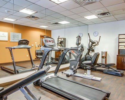 Fitness center with cardio equipment | Comfort Suites Weston - Sawgrass Mills South