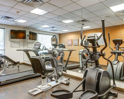 Fitness center with television | Comfort Suites Weston - Sawgrass Mills South