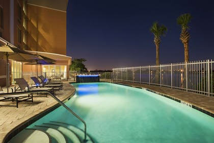 Night view of pool | Cambria Hotel Miami Airport - Blue Lagoon