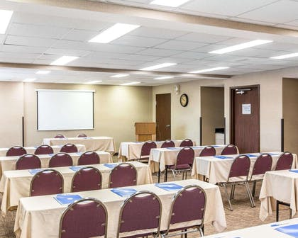 Meeting room with classroom-style setup | Comfort Inn & Suites near Robins Air Force Base
