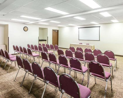 Meeting room with theater-style setup | Comfort Inn & Suites near Robins Air Force Base