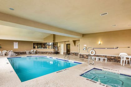 Indoor pool with hot tub   Comfort Suites near Robins Air Force Base