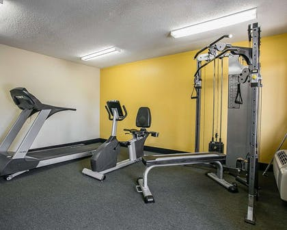 Fitness center with cardio equipment and weights   Quality Inn At Fort Gordon