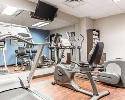 Fitness center with television | Comfort Suites Morrow- Atlanta South