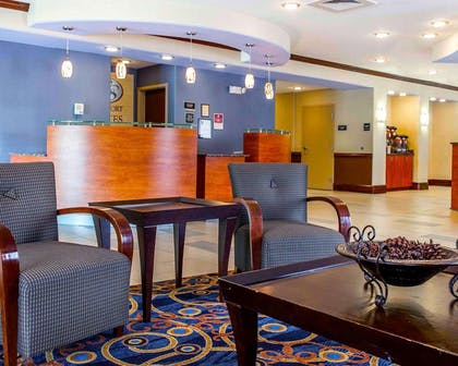 Lobby with sitting area | Comfort Suites At Kennesaw State University