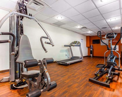 Fitness center with television | Comfort Suites At Kennesaw State University