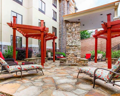 Relax on the hotel patio | Comfort Suites At Kennesaw State University