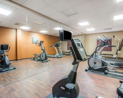 Fitness center with television | Comfort Suites Atlanta Airport