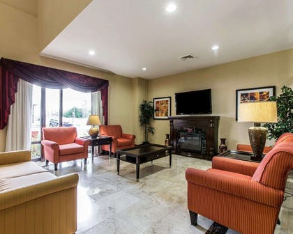 Spacious lobby with sitting area | Comfort Suites Waycross