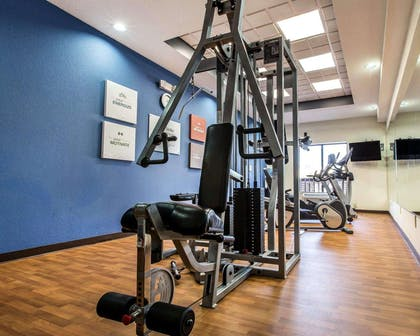 Fitness center with cardio equipment and weights | Comfort Suites Waycross