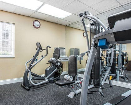 Fitness center with cardio equipment and weights | Quality Suites Buckhead Village