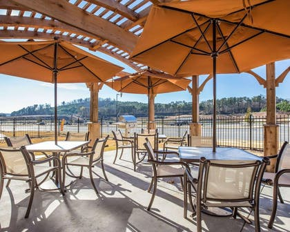 Relax on the hotel patio   MainStay Suites Cartersville - Emerson Lake Point