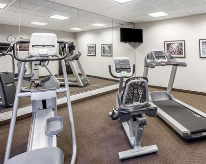 Fitness center with television   MainStay Suites Cartersville - Emerson Lake Point