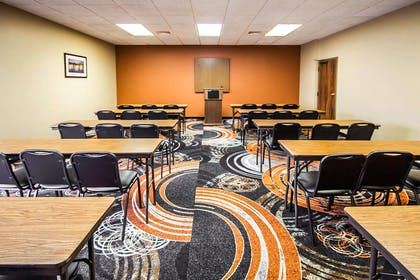 Meeting room with classroom-style setup | Clarion Inn & Suites Savannah Midtown