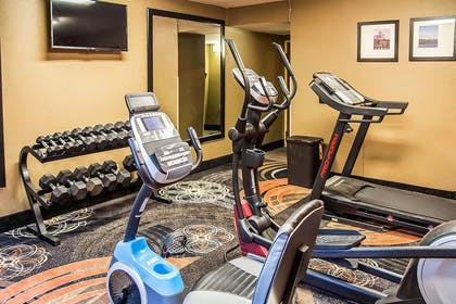 Fitness center with television | Clarion Inn & Suites Savannah Midtown