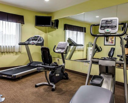 Fitness center with television | Suburban Extended Stay Hotel C