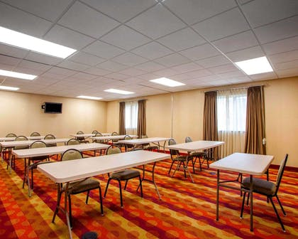 Meeting room with classroom-style setup | Suburban Extended Stay Hotel C